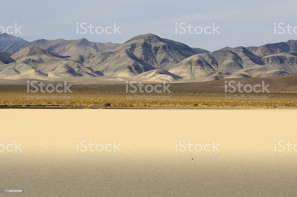 Desert landscape with Cottonwood Mountains in Death Valley, USA stock photo