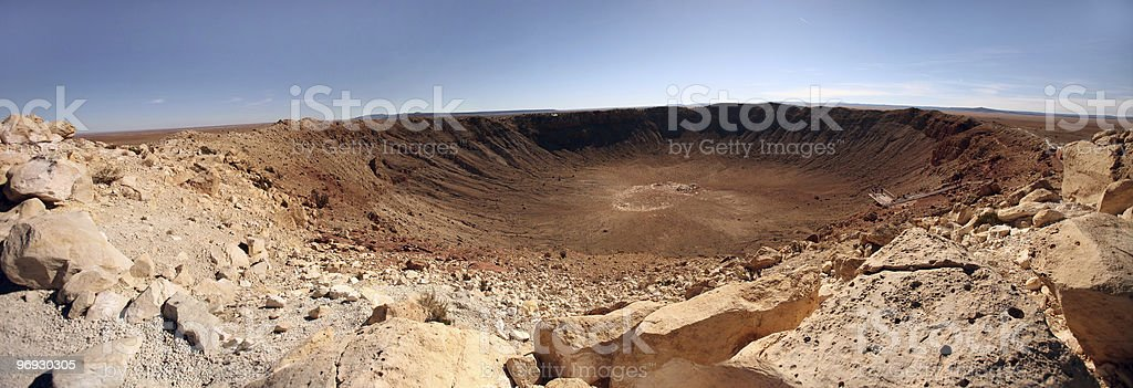 Desert Landscape With Crater royalty-free stock photo