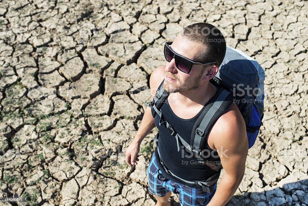 Desert Man royalty-free stock photo