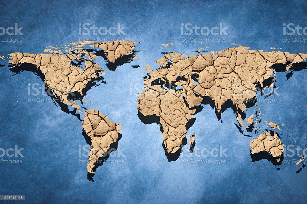 Desert Map Of The World Stockfoto und mehr Bilder von ...