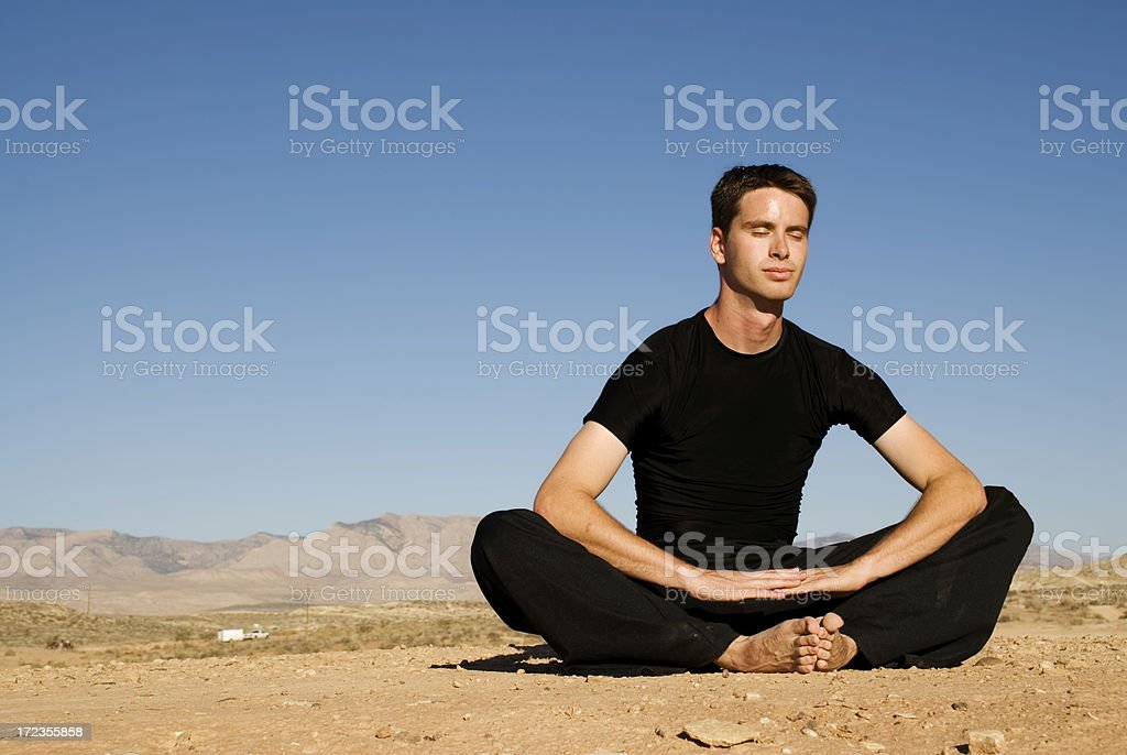 Desert Meditation royalty-free stock photo