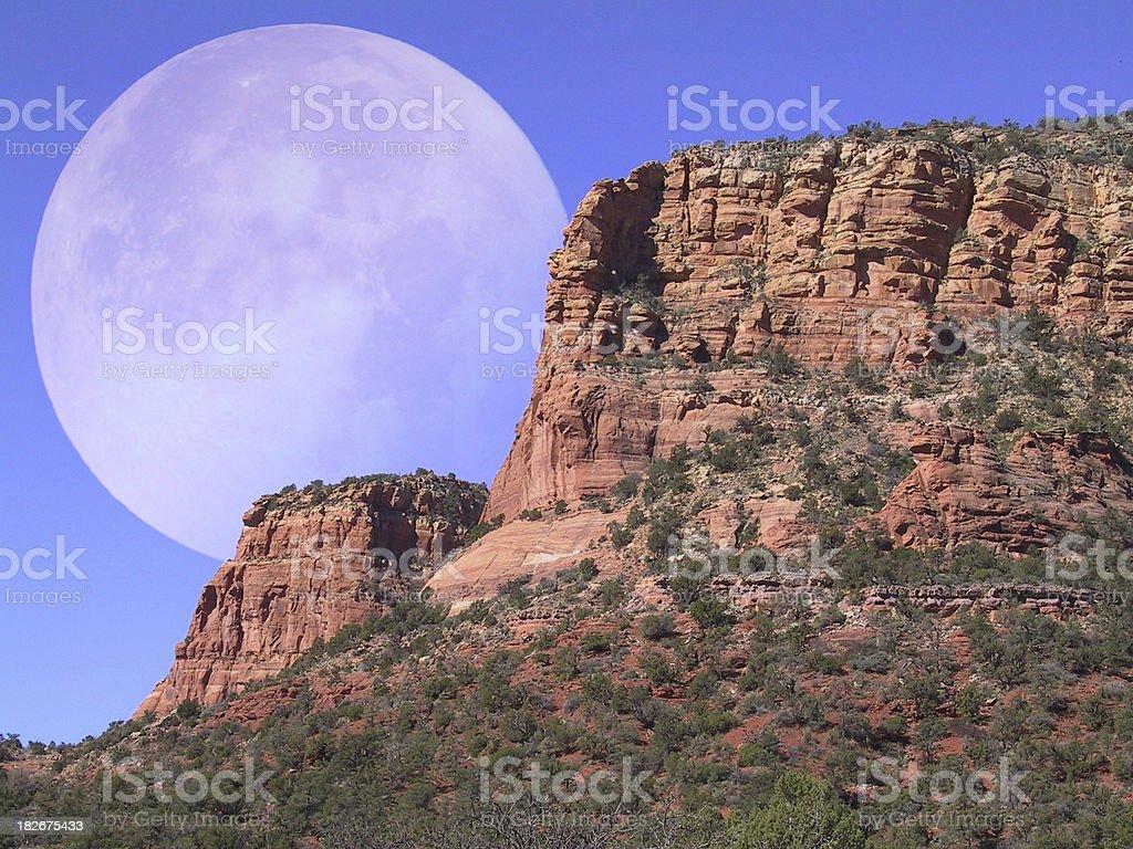 desert moonrise royalty-free stock photo