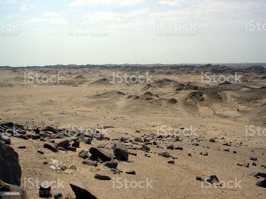 Desert Moonscape royalty-free stock photo
