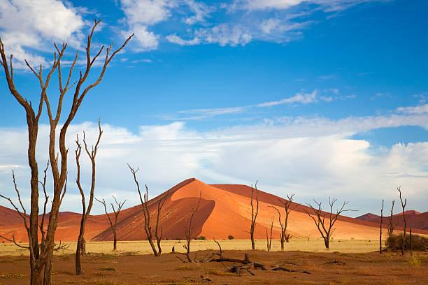 Desert mountain and plain against beautiful blue sky Namib Desert, Namibia namib desert stock pictures, royalty-free photos & images