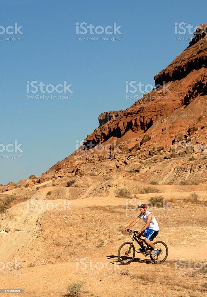 Desert Mountain Biking royalty-free stock photo
