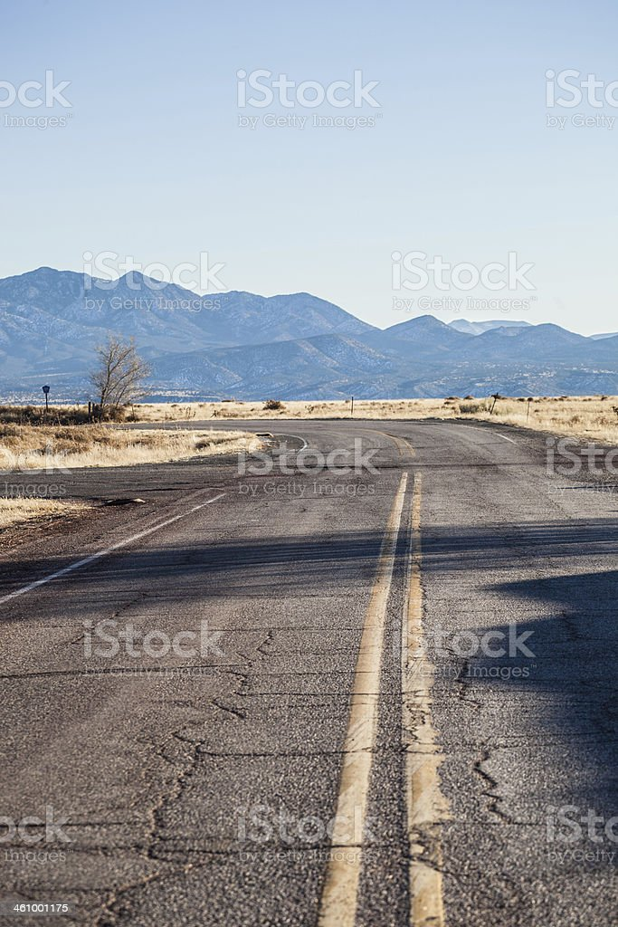 desert mountain road stock photo