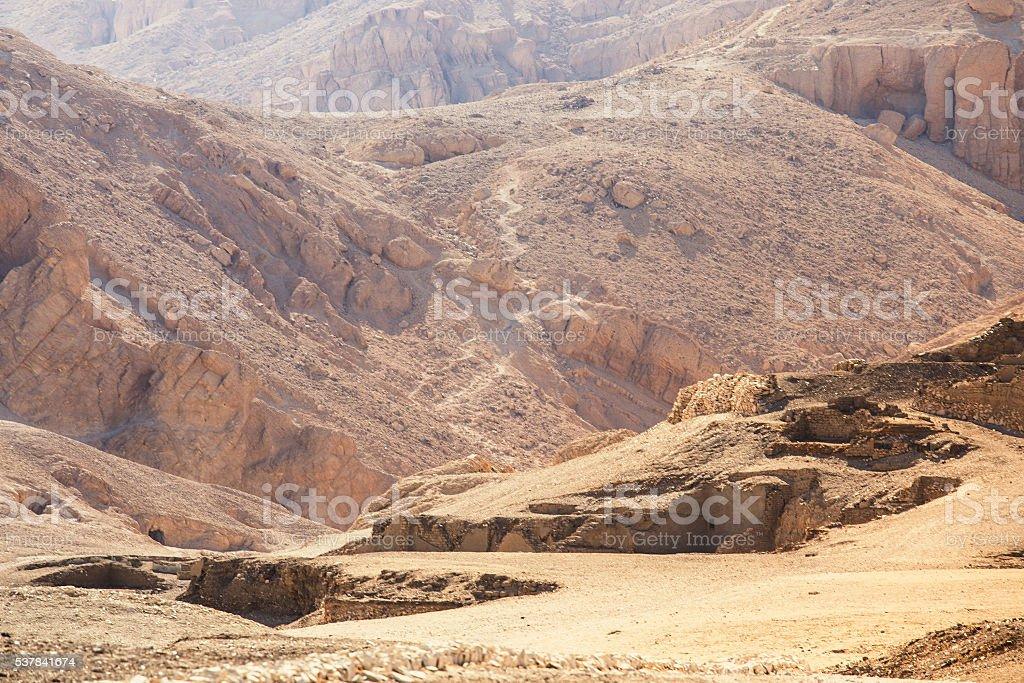 Desert Mountain Ruins stock photo