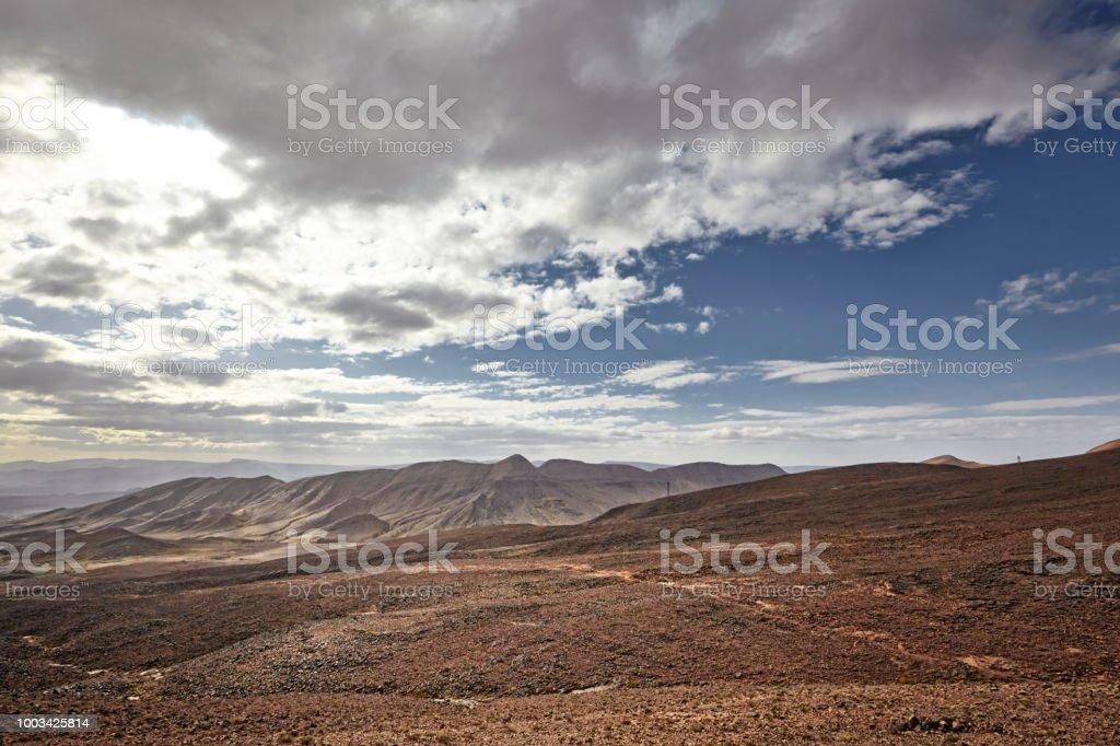 Desert mountain scenery. Moroccan desert scenic landscape