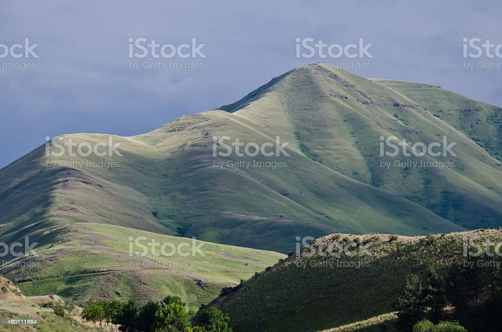 Desert Mountains of Hells Canyon in the Spring stock photo