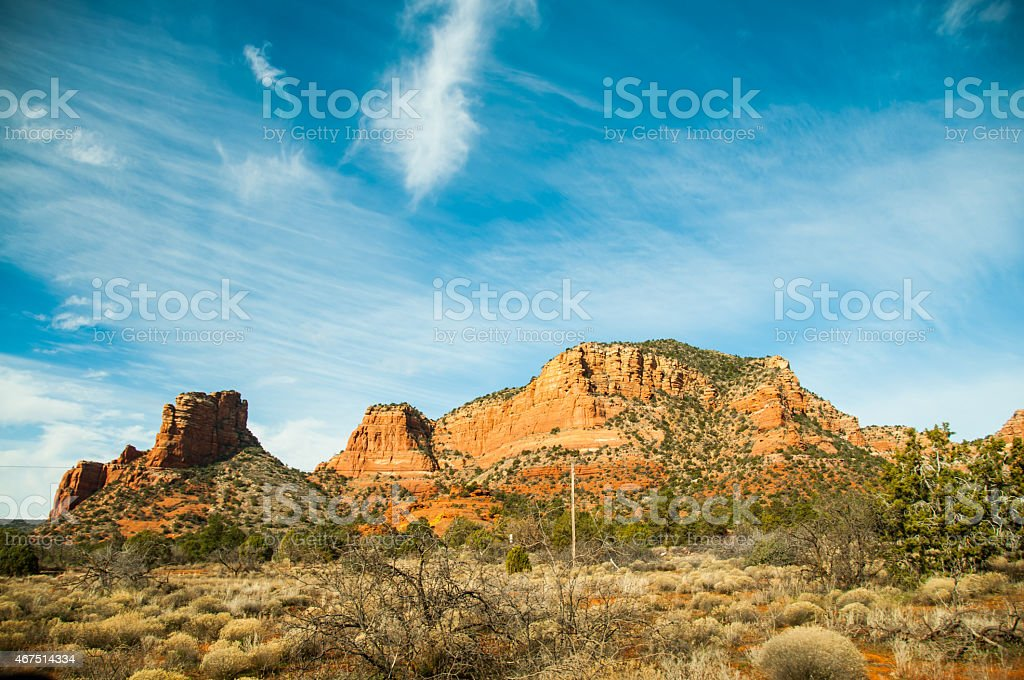 Desert near Phoenix, Arizona. stock photo