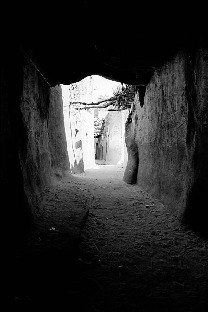 Desert oasis street stok fotoğrafı