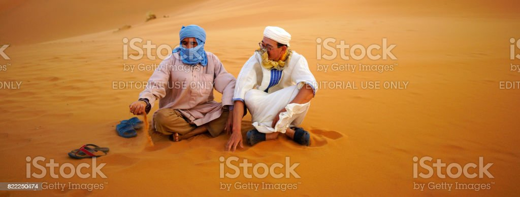 Image of: Dune Desert Of Bedouin With Travelers Royaltyfree Stock Photo Istock Desert Of Bedouin With Travelers Stock Photo More Pictures Of
