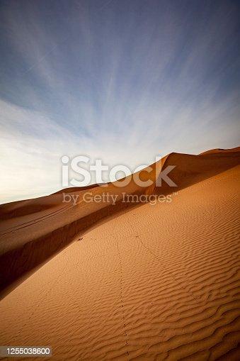 desert landscape in the sultanate of oman.