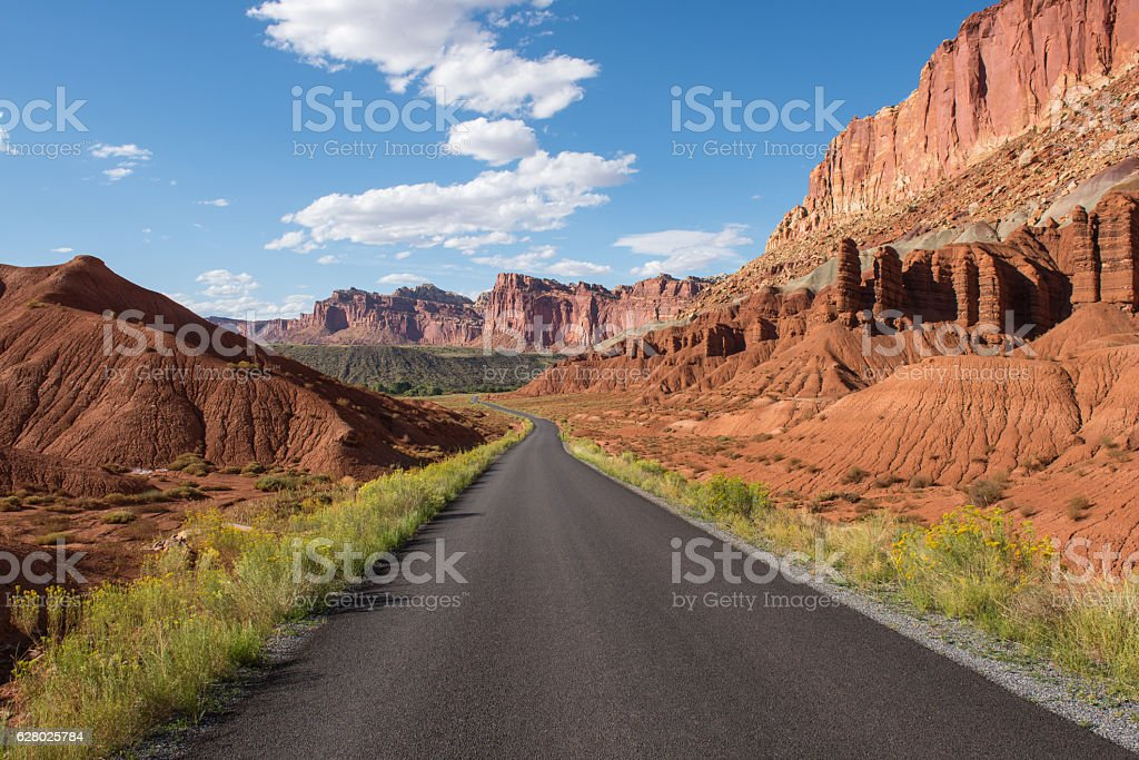 Desert Open Road stock photo