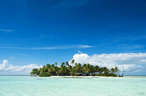 Desert o isola disabitata nell'Oceano Pacifico - foto stock