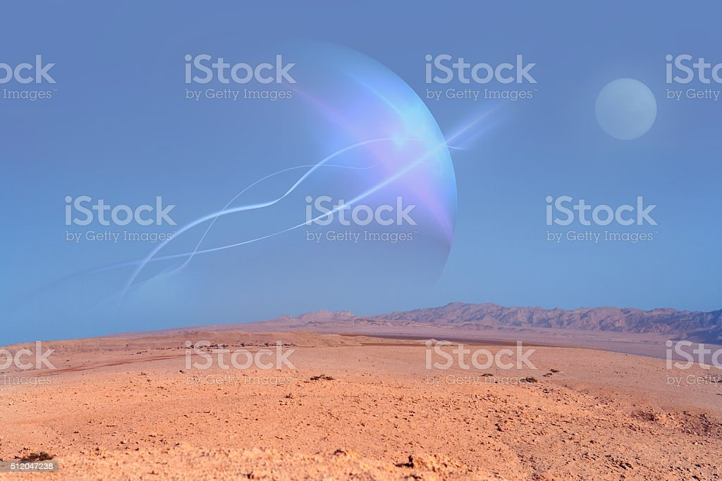 desert planet stock photo