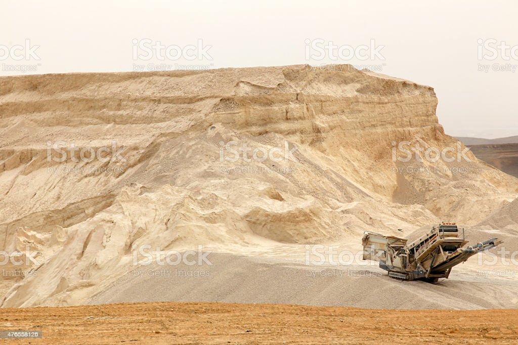 Desert Quarry stock photo