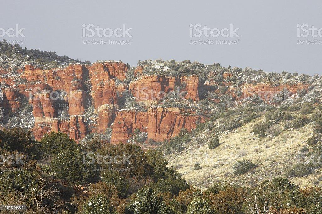 Desert Red Rock Canyon Winter Landscape royalty-free stock photo