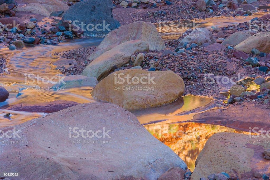 Desert Reflection Landscape Photo royalty-free stock photo