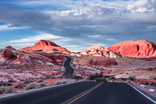 Desert Road 18 stock photo