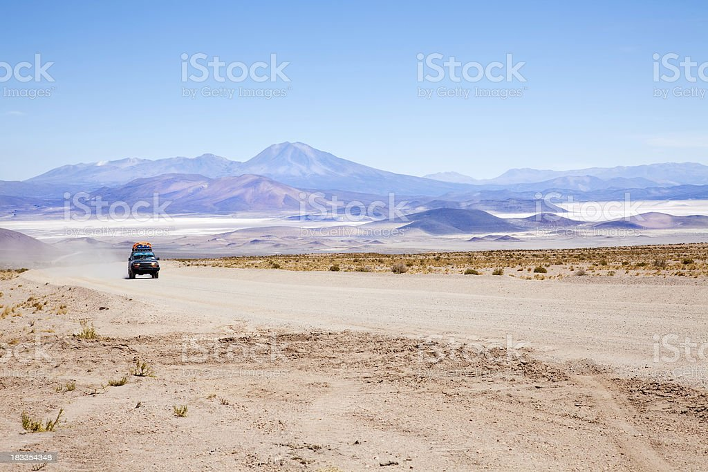 Desert road, Bolivia stock photo