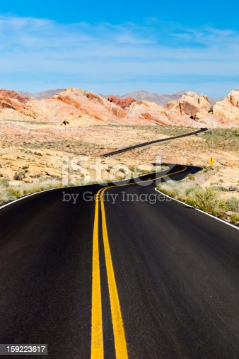 A Winding Road In The Valley Of Fire State Park, Nevada