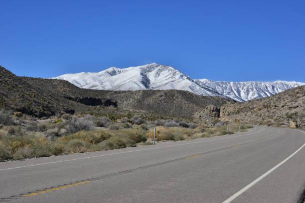 Wüstenstraße zum Mount Charleston, Nevada. – Foto