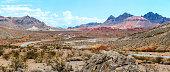 Panoramic View of desert Road  Navada USA