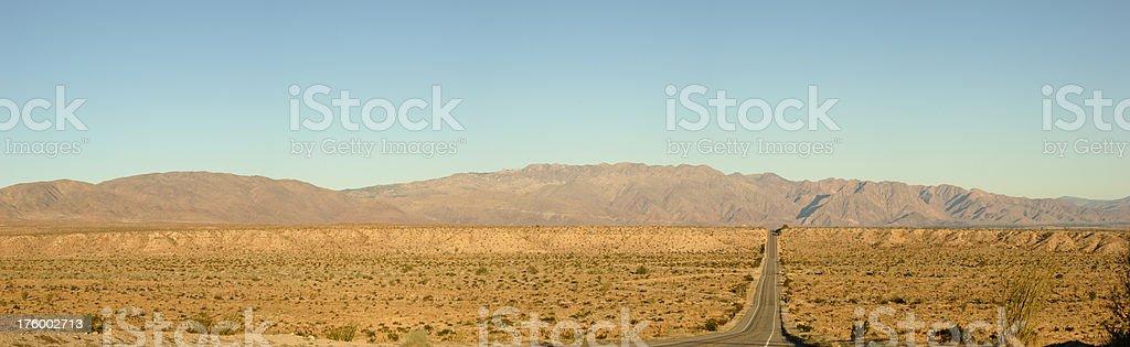 Desert Road Panoramic royalty-free stock photo