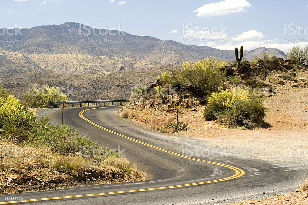 Desert Road stock photo