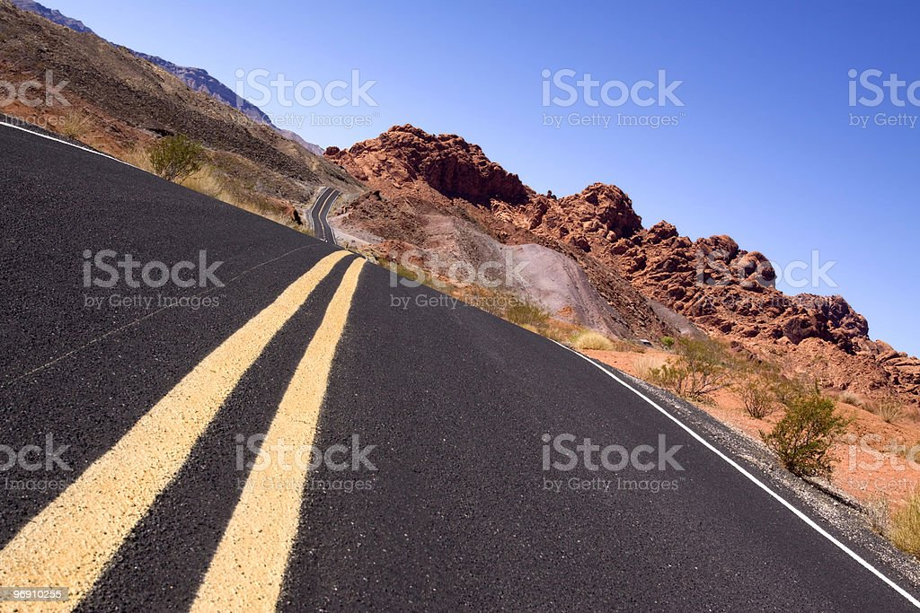 Desert road royalty-free stock photo