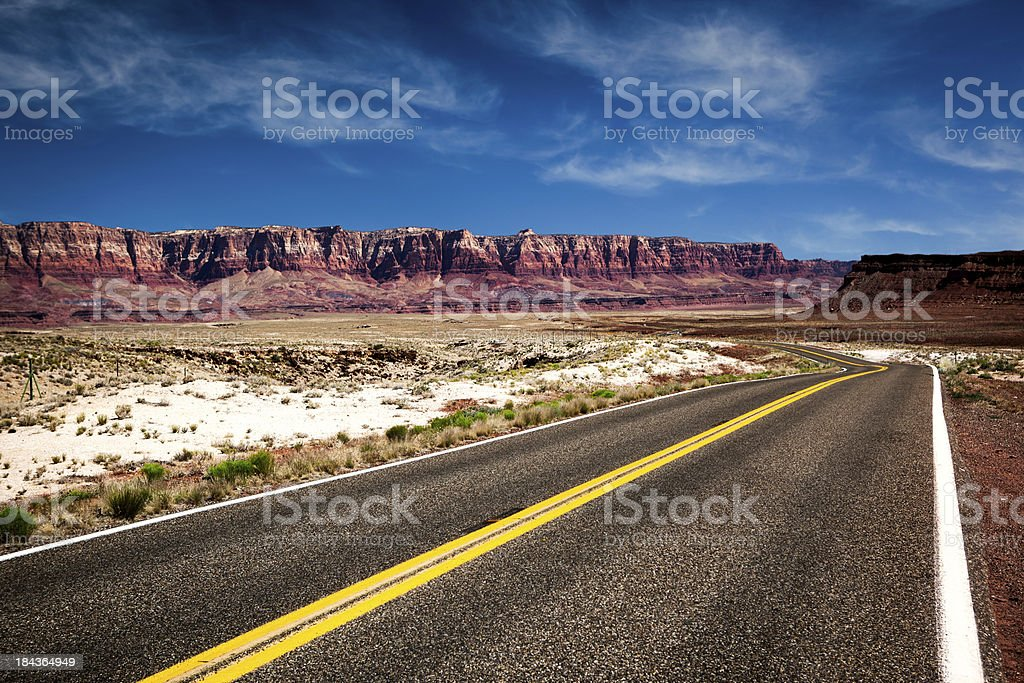 Desert Road to Nowhere royalty-free stock photo