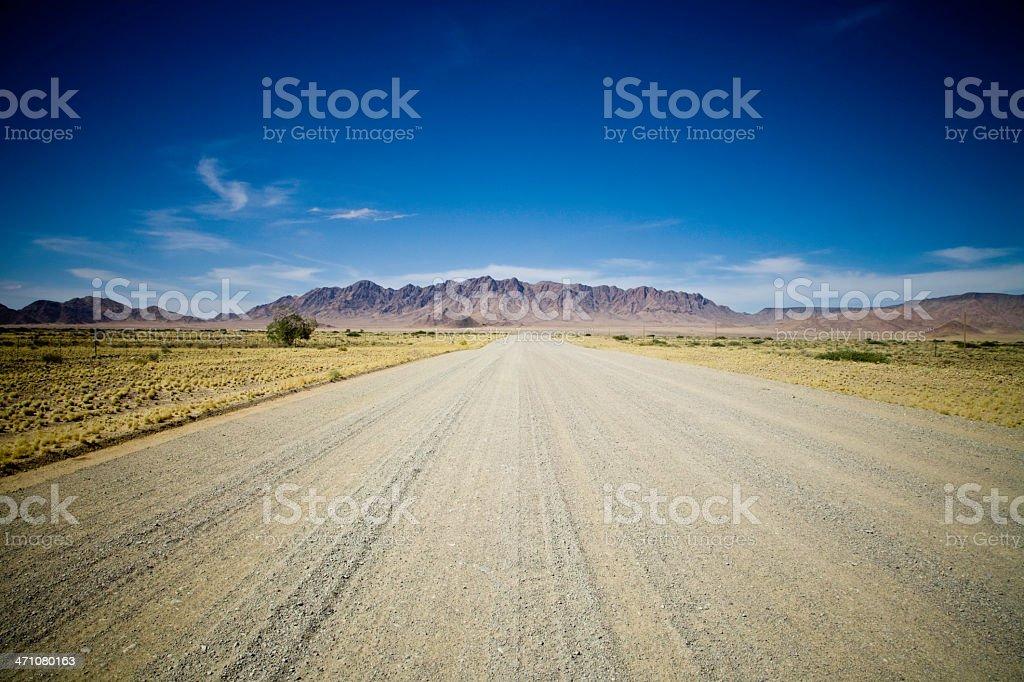 Desert Road to the Mountains royalty-free stock photo
