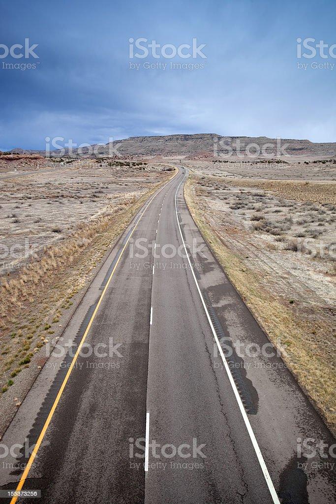 desert road trip landscape royalty-free stock photo