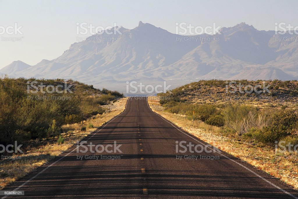 Desert Road Trip stock photo