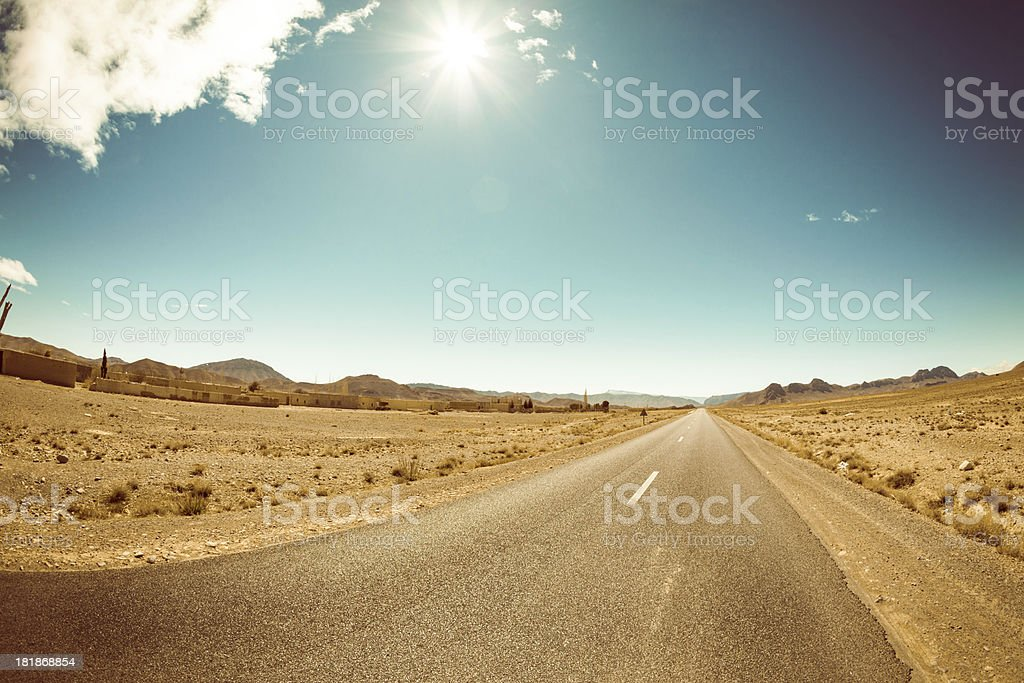 Desert Roadtrip in Morocco stock photo