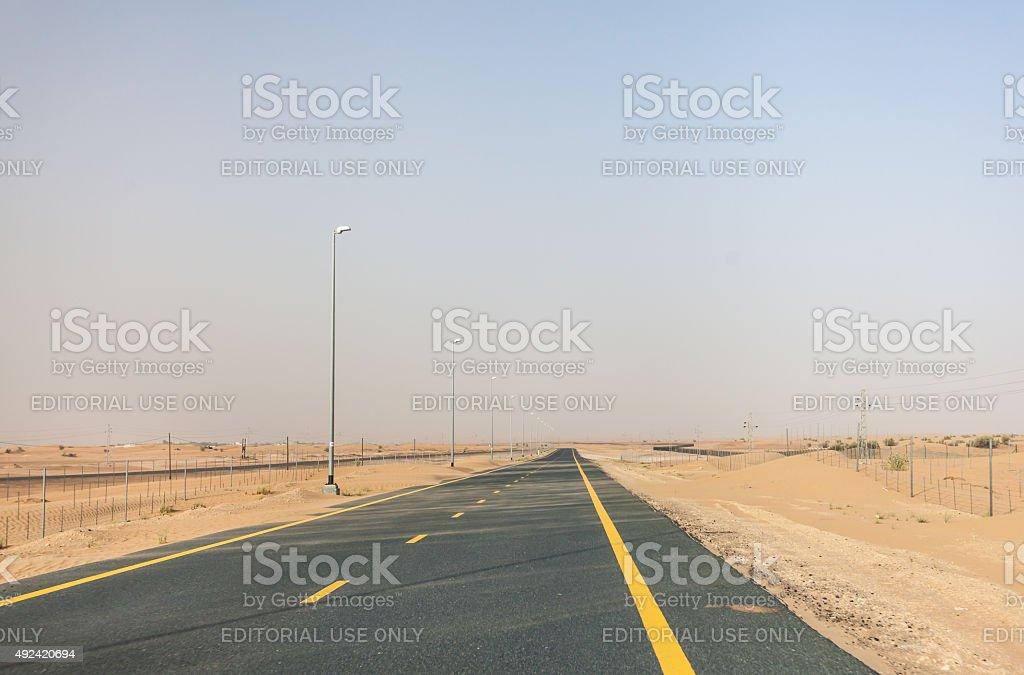 4WD desert safari in Dubai stock photo