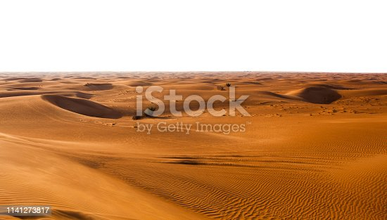 istock desert sand and dunes isolated on white 1141273817