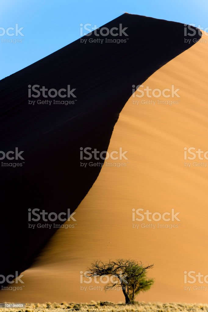 Desert Sand Dune 45 Nambia Sossusvlei royalty-free stock photo