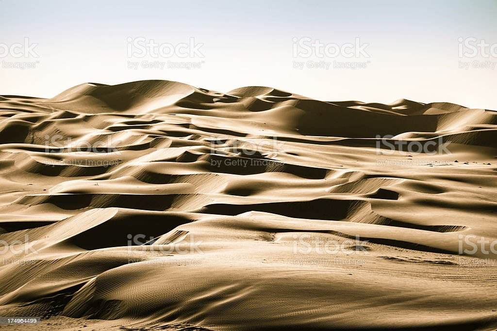 Desert Sand Dunes Rub' al Khali of Abu Dhabi, UAE royalty-free stock photo