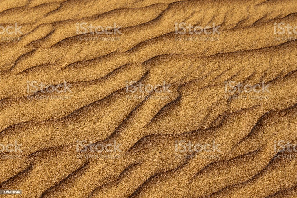desert sand in dubai, united arab emirates royalty-free stock photo