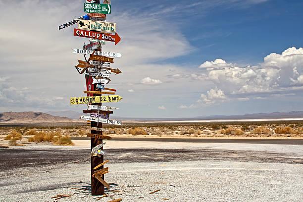 Desert Sign Post stock photo