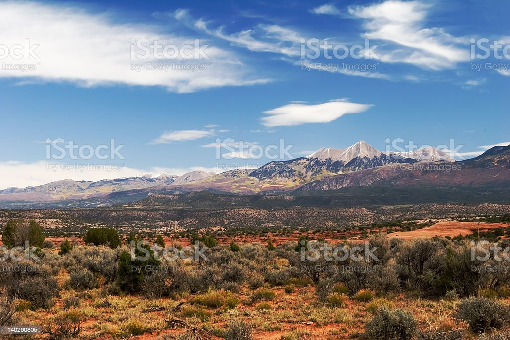 Desert, sky and mountains royalty-free stock photo