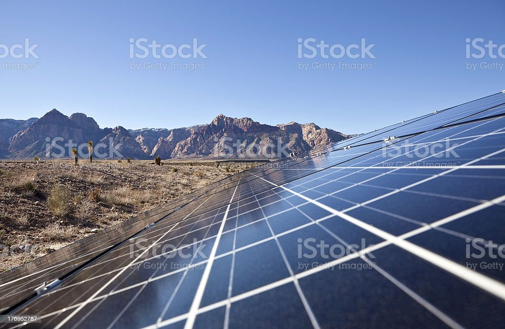 Desert Solar Array stock photo