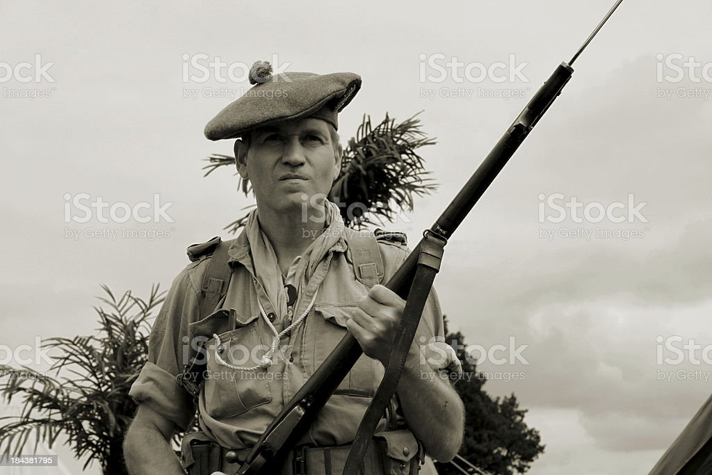 WW2 Desert Soldier. royalty-free stock photo