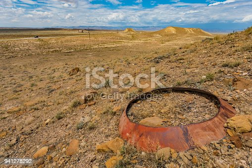 Abandoned steel part in the Utah desert looking like space junk from the early rocket program