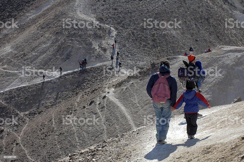 Desert Steep Trail stock photo