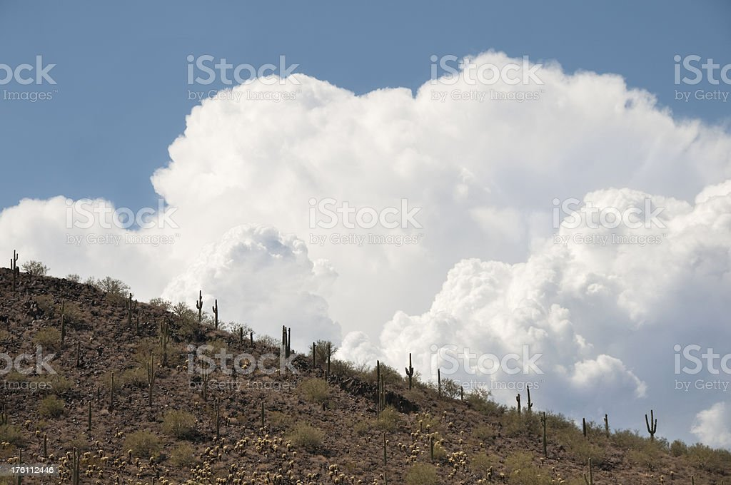 Desert Storm Coming stock photo