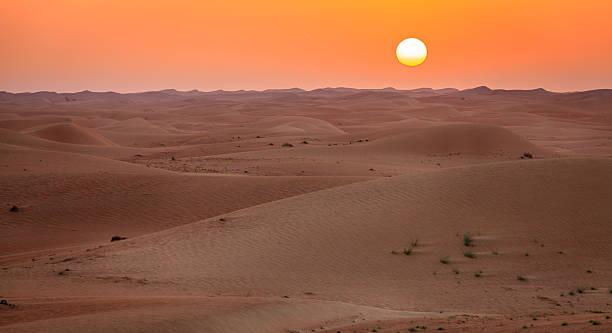 Desert sunrise stock photo