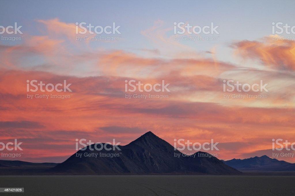 Desert Sunset stock photo